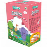 Timios - Zookers Cherry Bits - 12+ months 100% Natural & Healthy Biscuits for kids