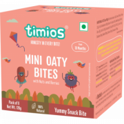 Timios - Mini Oaty Bites - Nuts & Berries - 18+ months 100% Natural & Healthy snacks for kids